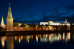 Russia Kremlin and river in Moscow close up Stock Photos