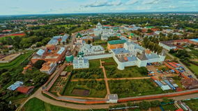 Russia , kremlin, Rostov, Yaroslavl Region (Aerial Drone flights) stock video