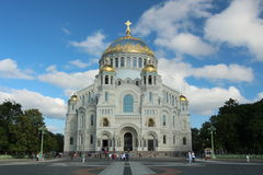 Russia, Kronstadt, Nikolsky Naval Cathedral Stock Image