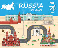 Russia Landmark Global Travel And Journey Infographic background. Vector Design Template.used for your advertisement, book, banner. Template, travel business Royalty Free Stock Images