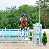 Russia, Leningrad region, Enkolovo village - JULY 7, 2019:INTERNATIONAL COMPETITIONS CSI ** - WORLD CUP, World Cup stage royalty free stock images
