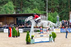 Russia, Leningrad region, Enkolovo village - JULY 7, 2019:INTERNATIONAL COMPETITIONS CSI ** - WORLD CUP, World Cup stage royalty free stock photos