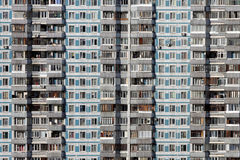 Russia: Living in Moscow. Gigantic apartment block in one of the big living districts in Moscow, Russia Royalty Free Stock Photo