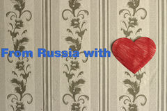From Russia with love Stock Image