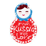 From Russia with love - Russian dolls matryoshka Royalty Free Stock Image