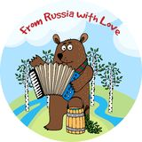 From Russia With Love vector emblem or badge Royalty Free Stock Image