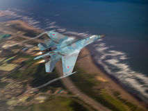 Russia made fighter aircraft Royalty Free Stock Photo