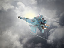 Russia made fighter aircraft Stock Photos