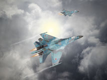 Russia made fighter aircraft Royalty Free Stock Images