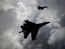 Russia made fighter aircraft Stock Photography