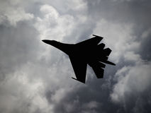 Russia made fighter aircraft Royalty Free Stock Image