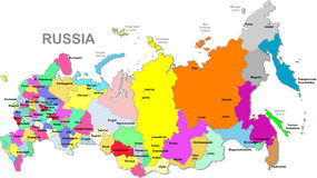 Russia map royalty free illustration