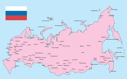 Russia map Stock Photos