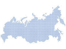 Russia map dots Royalty Free Stock Photography
