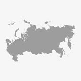 Russia map in gray on a white background Stock Photo