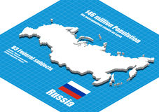 Russia map vector Stock Image