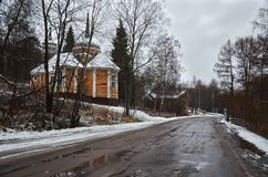 Russia. Marcial Waters. Mineral springs. Church of the Apostle Peter November 17, 2017. Stock Photo