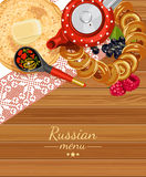 Russia. Menu background. Russian cuisine. Menu background Royalty Free Stock Photography