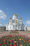 Russia. Mordovia. Admiral Fyodor Ushakov cathedral. Russia. Admiral Ushakov`s cathedral in the city of Saransk stock image