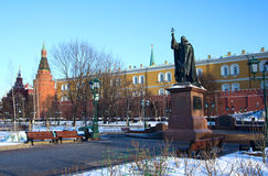 Russia. Moscow. Alexandrovsky garden. Alexandrovsky garden is located in the very center of Moscow, near the North-Western walls of the Kremlin Stock Photography