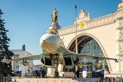 Su-27 combat fighter Stock Photos