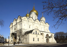 Russia. Moscow. Archangel Cathedral. Archangel Cathedral, one of the three main cathedrals of the Moscow Kremlin. A modern building built in 1505 Stock Images