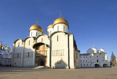 Russia. Moscow. Assumption Cathedral. Assumption Cathedral of the Moscow Kremlin - the Orthodox Church, situated on the Cathedral square of the Moscow Kremlin Royalty Free Stock Image