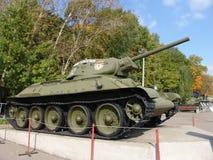Russia. Moscow.Battle tanks and anti tank gun museum in Poklonnaya Gora Stock Photos