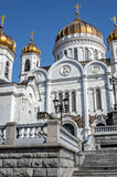 Russia, Moscow. The Cathedral of Christ the Savior in Moscow Stock Photography