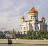 Russia. Moscow. Cathedral of Christ the Saviour. Cathedral of Christ the Saviour is a cathedral in Moscow, Russia, on the northern bank of the Moskva River, a Royalty Free Stock Photos