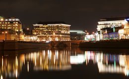 Russia, Moscow Center, Night View (panorama) Royalty Free Stock Photos