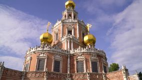 Russia. Moscow. Church of the Intercession of the virgin in Fily. stock footage