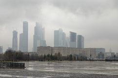 Russia, Moscow, city views on a cloudy rainy day Stock Photography