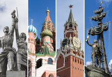Russia, Moscow: Collage with the sights of the city Royalty Free Stock Photography