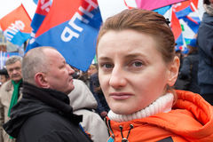 05/01/2015 Russia, Moscow. Demonstration on red square. Labor da Stock Image