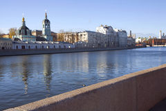 Russia. Moscow. Embankment of the Moskva-river. The Moscow Kremlin is the oldest part of Moscow, the main socio-political, spiritual, religious and historical Stock Image