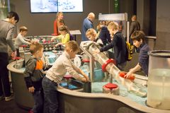 Russia, Moscow, `Experimentanium` - Museum of entertaining Sciences. Russia, Moscow, 02.04.2018:`Experimentanium` - Museum of entertaining Sciences Stock Photo