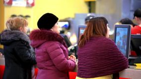 RUSSIA, MOSCOW, 12 FEBRUARY 2015, people waiting stock footage