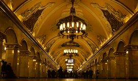 Russia, Moscow. Incredible metro station in Moscow Royalty Free Stock Images