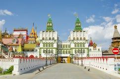 RUSSIA, MOSCOW, IZMAILOVO. Izmailovsky Kremlin, Moscow, Russia in sunny day Stock Photos