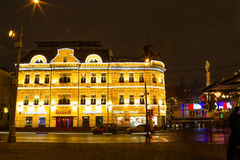 Russia, Moscow, Jan. 7, 2016 - Christmas night city streets, fes Stock Photos