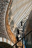 Openwork design of a dome made of glass and metal. royalty free stock photos