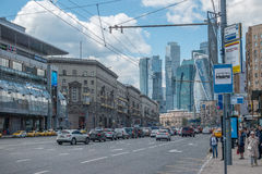 RUSSIA, MOSCOW, JUNE 7, 2017: Kutuzovsky Avenue stock photo