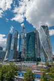 RUSSIA, MOSCOW, JUNE 7, 2017: Moscow City - Moscow International Business Center at day. Royalty Free Stock Images