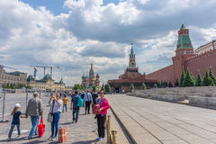 RUSSIA, MOSCOW, JUNE 8, 2017: Undefined people walk on the Red Squar Stock Photography