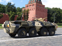 Russia, Moscow Kremlin and Army Personal armored carrier Royalty Free Stock Photography