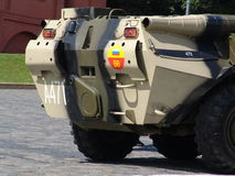 Russia, Moscow Kremlin and Army Personal armored carrier Royalty Free Stock Images