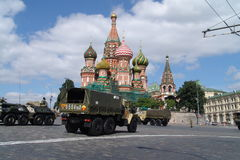 Russia, Moscow Kremlin and Army Personal armored carrier Stock Images