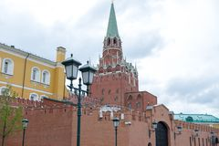 Russia The Moscow Kremlin in the cloudy day royalty free stock photography