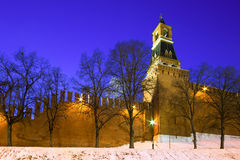 Russia, Moscow Kremlin in the evening Royalty Free Stock Photo